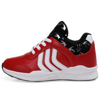 New Women's Running Shoes Fashion Sneakers Mesh Breathable Casual - RED 36