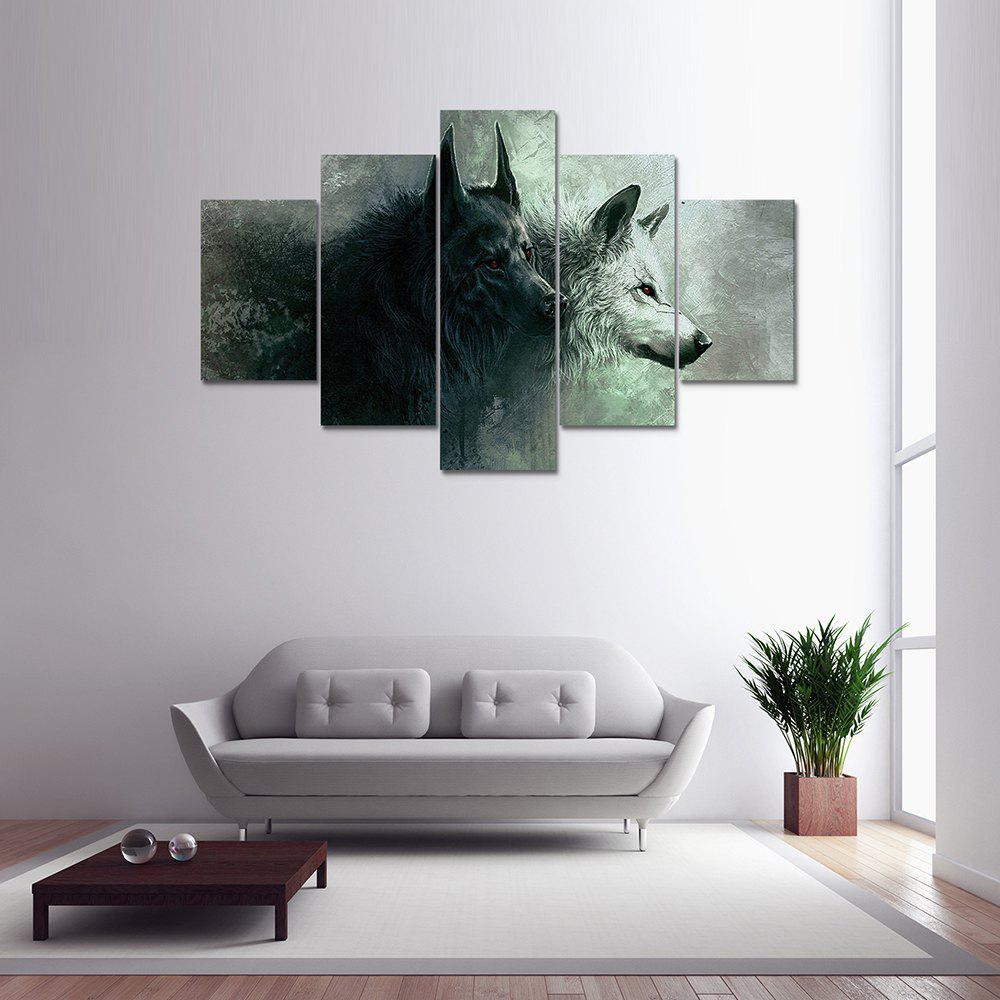 Best Online Stores For Home Decor: 2017 Wolf Canvas Print Painting For Home Decor 5pcs