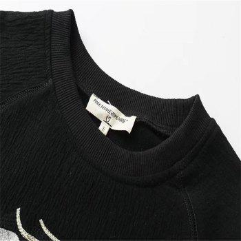 2017 New Ladies Embroidered Jacquard Sweater - BLACK BLACK