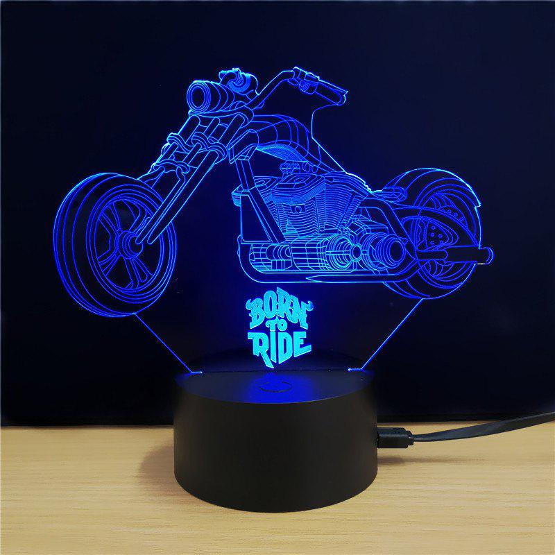 M.Sparkling TD076 Creative Motorcycle 3D LED Lamp m sparkling td303 creative cartoon 3d led lamp