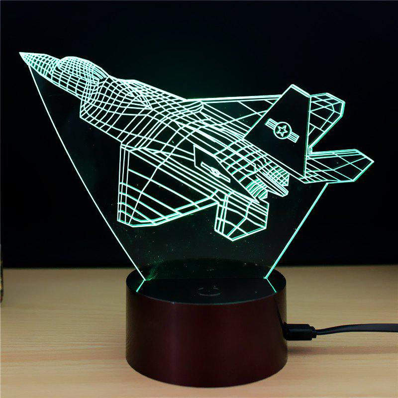 M.Sparkling TD144 Creative Aeroplane 3D LED Lamp m sparkling td303 creative cartoon 3d led lamp