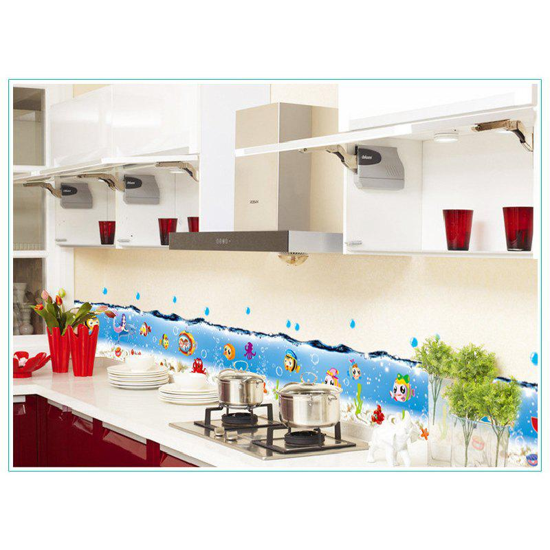 Ocean Fish Blue Sea Baseboard Wall Stickers Waterproof Skirting Bedroom Kids Rooms Kitchen Bathroom commercial sea inflatable blue water slide with pool and arch for kids