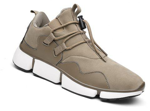 Men Shoes Sport Sneakers Travel Lace-Up Leisure Shoes Outdoor Hiking Shoes Size(39-44) - LIGHT KHAKI 43