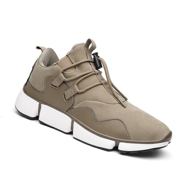 Men Shoes Sport Sneakers Travel Lace-Up Leisure Shoes Outdoor Hiking Shoes Size(39-44) - LIGHT KHAKI 40