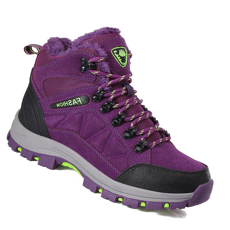 Couple Spring Hiking Boots Mountain Climbing Shoes Outdoor Plus Size Tactical Boots - PURPLE 37