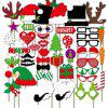 50pcs Funny Pictures Photo Props Christmas Festival Event Party Decor - COLORMIX