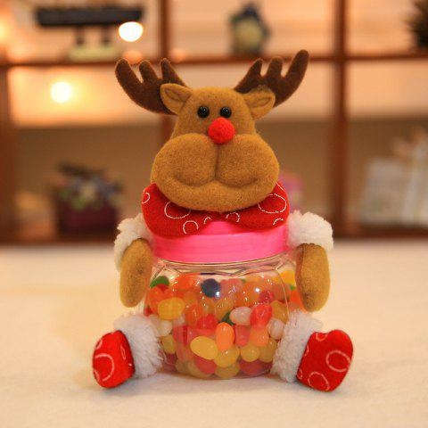 Creative 2PCS Santa Claus Elk Christmas Candy Jar - COLORFUL