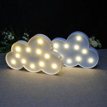 BRELONG 3D Clouds Warm White Decoration Night Light for Kids Room Christmas Wedding 3V - WHITE