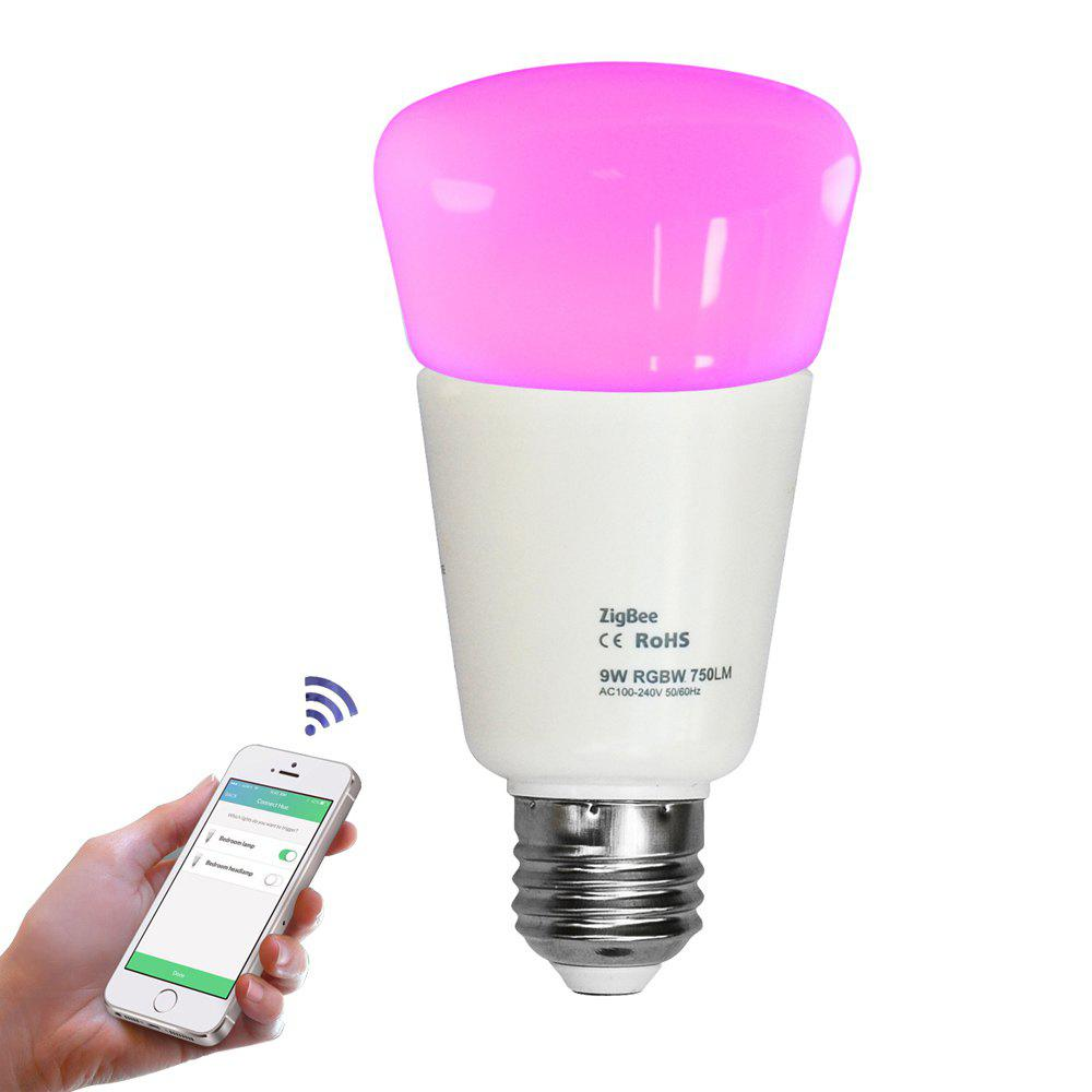 JIAWEN E27 9W  Smart RGB Bulb Wireless APP Control Working with Zigbee Hub AC 100 - 240V - WHITE RGBW