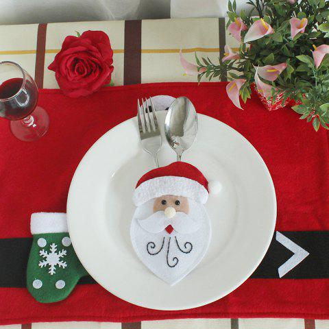 WS 0210 Santa Claus Snowman Reindeer with Pocket Party Christmas Table Decoration Tableware - OLD MAN