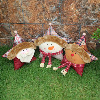 WS 0214 Christmas Gift Pillow Doll Window Ornaments Snowman Santa Claus Reindeer - LITTLE FAWN