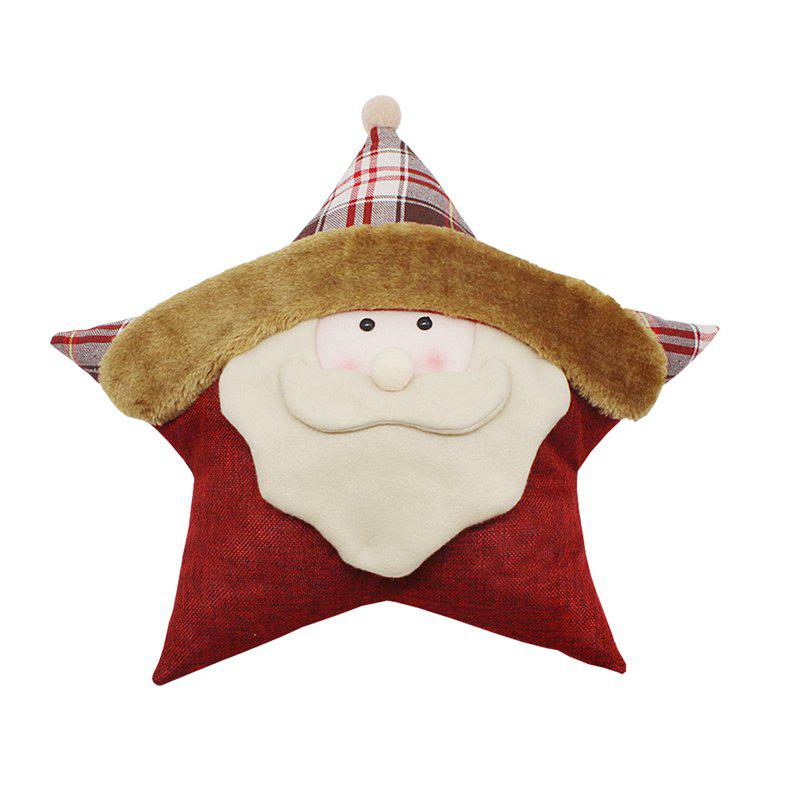 WS 0214 Christmas Gift Pillow Doll Window Ornaments Snowman Santa Claus Reindeer - OLD MAN