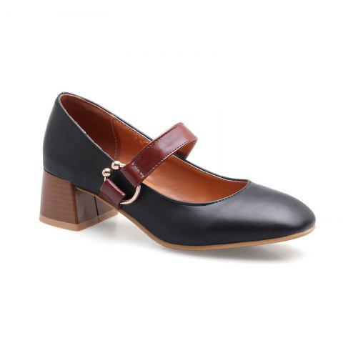 England Fashion Restoring Ancient Ways Shoes - BLACK 36