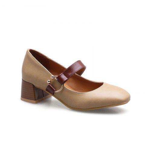 England Fashion Restoring Ancient Ways Shoes - APRICOT 35