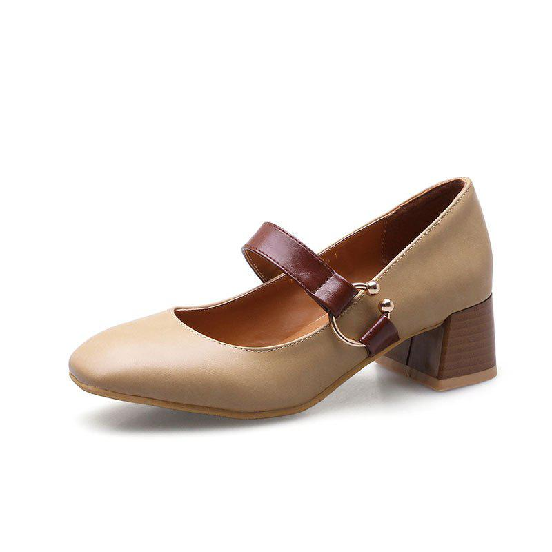 England Fashion Restoring Ancient Ways Shoes - APRICOT 36