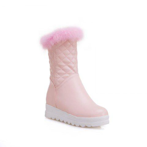 Sweet Flat Bottom of Autumn and Winter High Boots - PINK 39