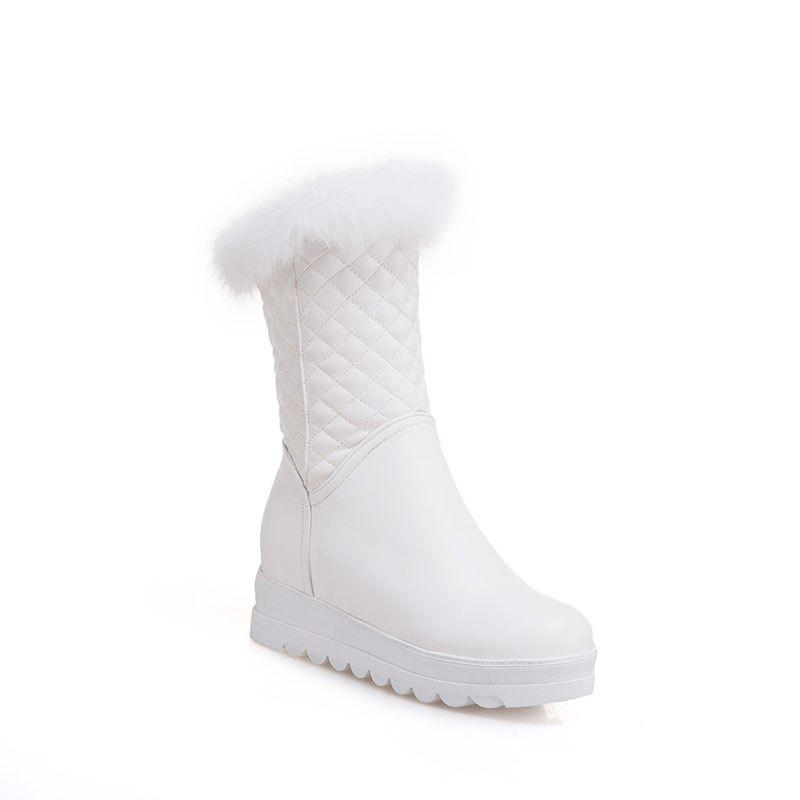 Sweet Flat Bottom of Autumn and Winter High Boots - SNOW WHITE 34