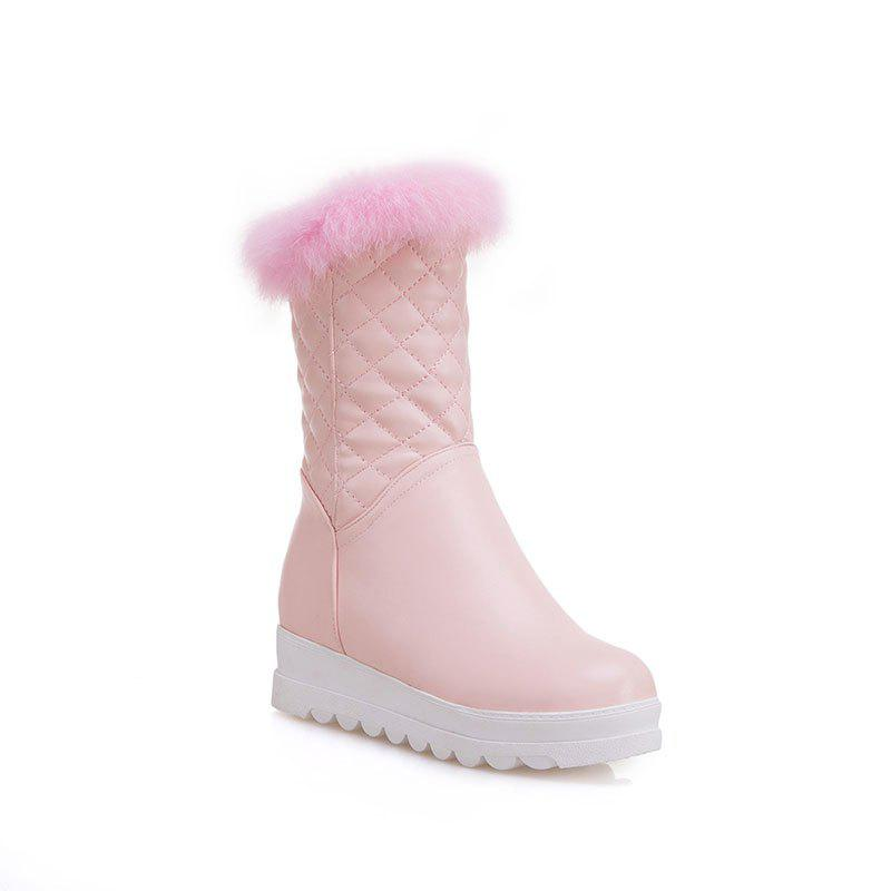 Sweet Flat Bottom of Autumn and Winter High Boots - PINK 37