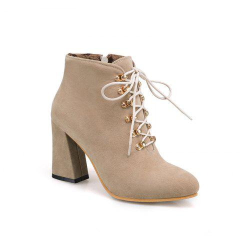 The New Fashion Line Is Studded with High Heels and Women's Boots - BEIGE 38