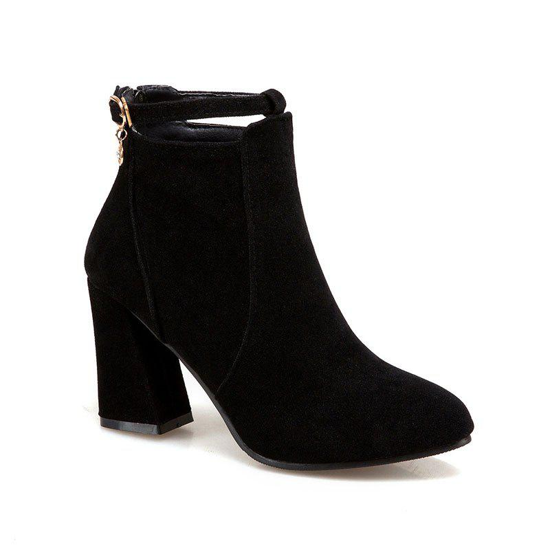 The New Style of Thick and Tall Women's Boots - BLACK 39