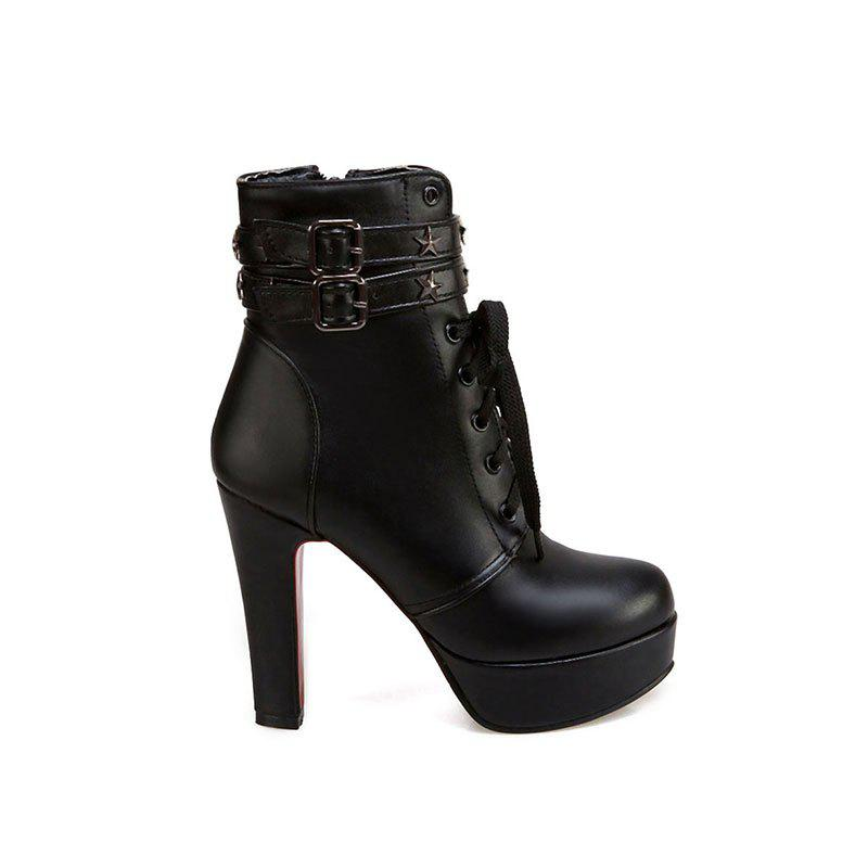 New Fashion Line  Fine and High Quality Female Boot - BLACK 37