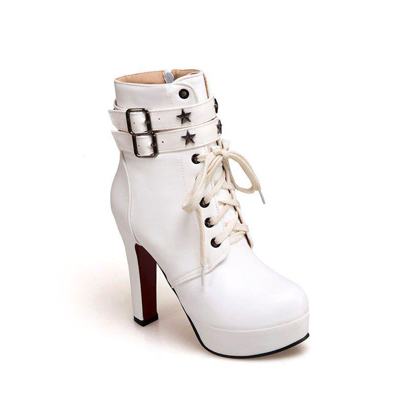 New Fashion Line  Fine and High Quality Female Boot - SNOW WHITE 35