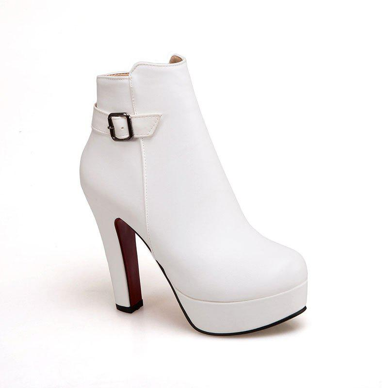 The New Ultra High Fashion and Fashion Casual Women's Boots - SNOW WHITE 34