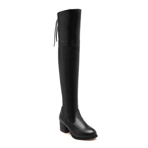 The New Style Retro Style Has A Simple Boot - BLACK 37