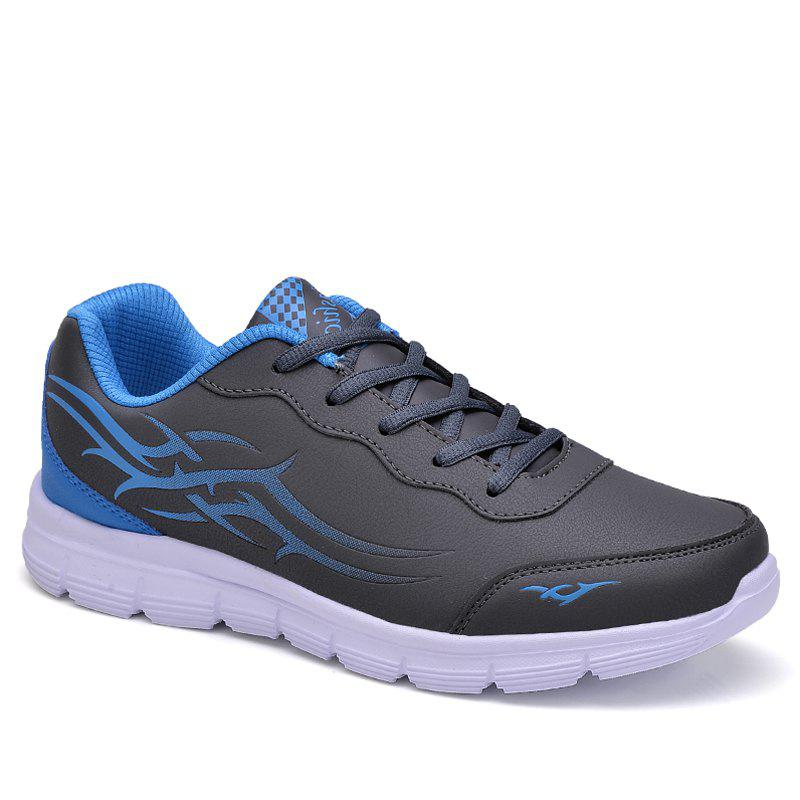 Men Knife Sport Shoes - GREY/WHITE/BLUE 44