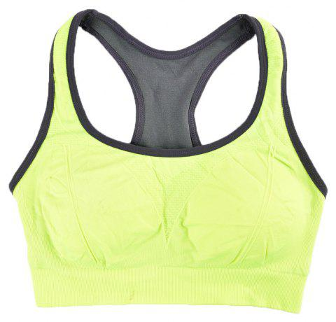 Comfortable Ladies Yoga Sports Bra Breathable Seamless Fabric Supportive - GREEN 5919/6319 M