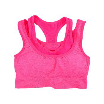 2017 Women's Comfortable Seamless Sports Bra Double Strap Design - RED 89R1# RED R