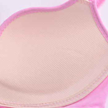 Sexy Ladies Push Up Sports Bra Nylon Seamless Fabric Cover - PINK / S