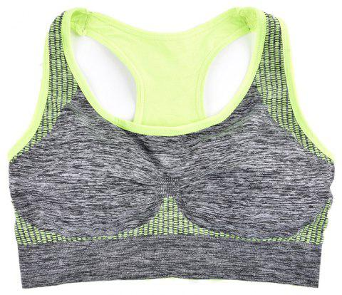 2017 Fashion Women Fitness Seamless Sports Bra Brrathable Qiuck Dry Fabric - GREEN T6138 S