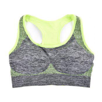 2017 Fashion Women Fitness Seamless Sports Bra Brrathable Qiuck Dry Fabric - GREEN T6138# GREEN T