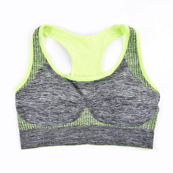 2017 Fashion Women Fitness Seamless Sports Bra Brrathable Qiuck Dry Fabric - GREEN T  GREEN T