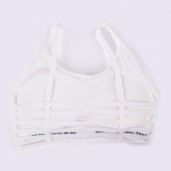 New Fashion Sexy Sports Crop Top Bra for Every Beauty - WHITE  WHITE