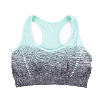 2017 Colorful Women's Seamless Yoga Bra Tops Breathable - BLUE 3930# BLUE
