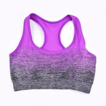 2017 Colorful Women's Seamless Yoga Bra Tops Breathable - PURPLE P M