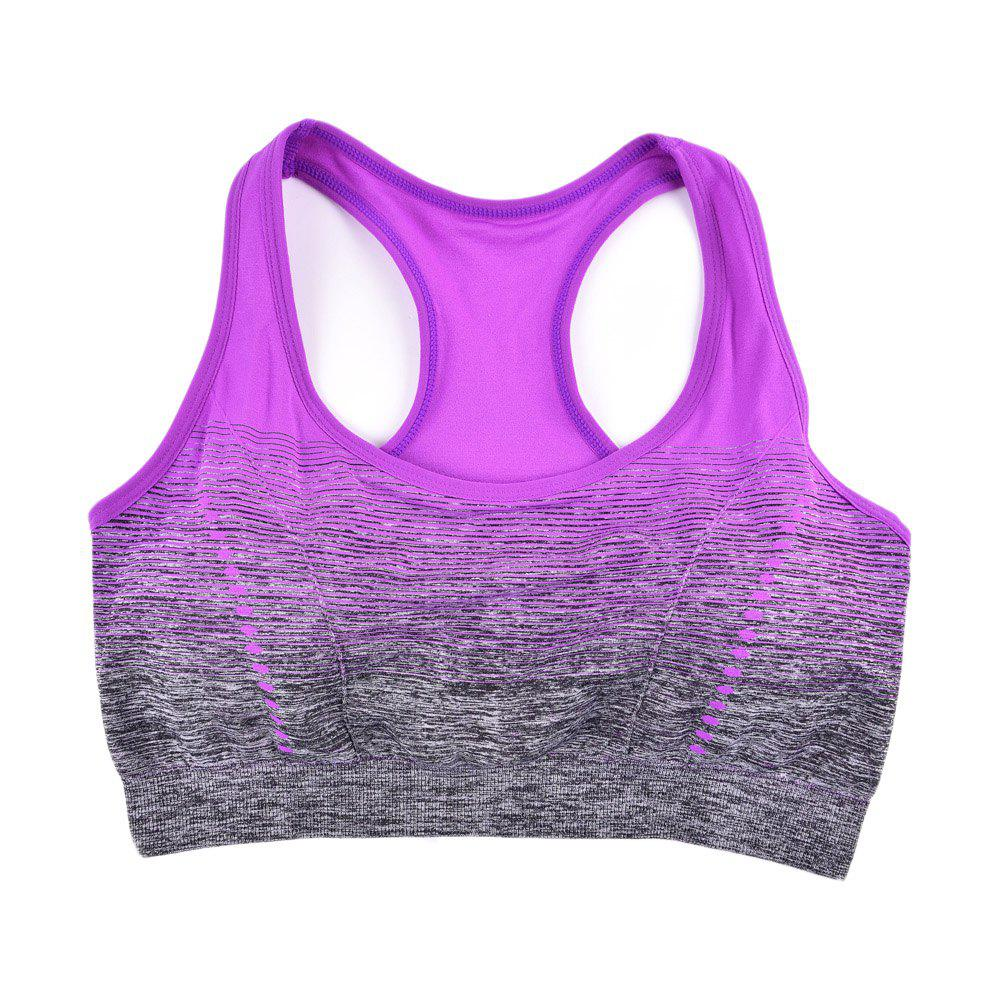 2017 Colorful Women's Seamless Yoga Bra Tops Breathable - PURPLE P S