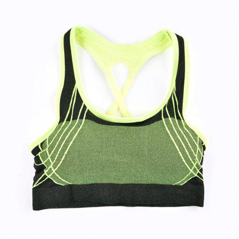 2017 Fashion Outdoor Running Sports Bra for Every Sexy Girls - GREEN 5919/6319 L