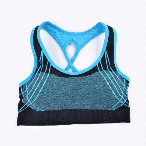 2017 Fashion Outdoor Running Sports Bra for Every Sexy Girls - BLUE 3930 S