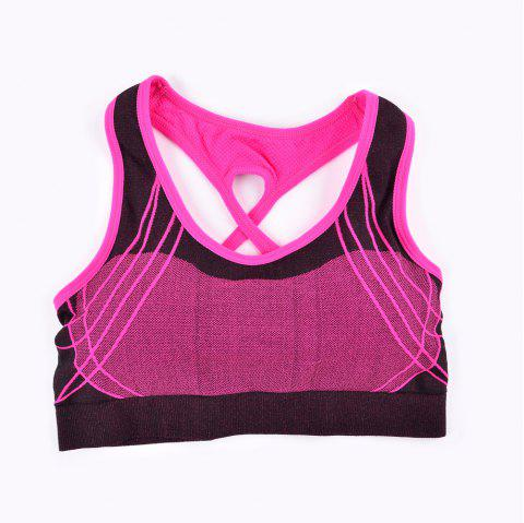 2017 Fashion Outdoor Running Sports Bra for Every Sexy Girls - RED 89R1 L