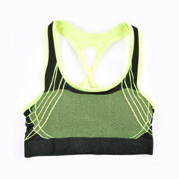 2017 Fashion Outdoor Running Sports Bra for Every Sexy Girls - GREEN 5919/6319# GREEN /