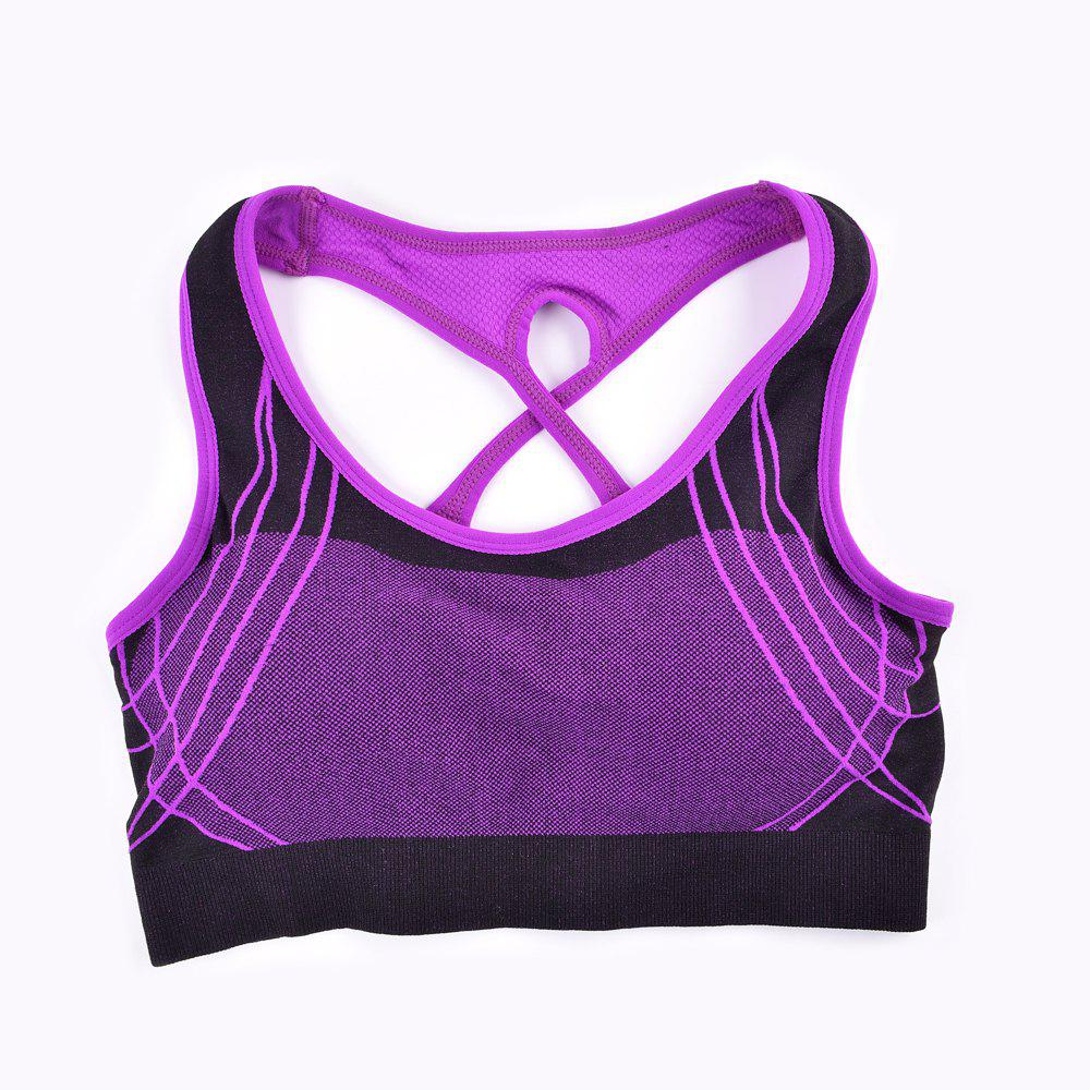 2017 Fashion Outdoor Running Sports Bra for Every Sexy Girls - PURPLE P S