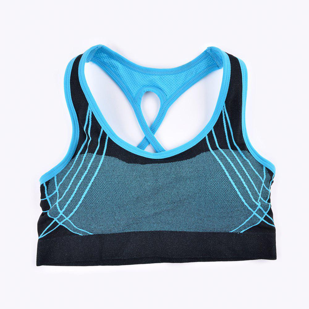 2017 Fashion Outdoor Running Sports Bra for Every Sexy Girls - BLUE S