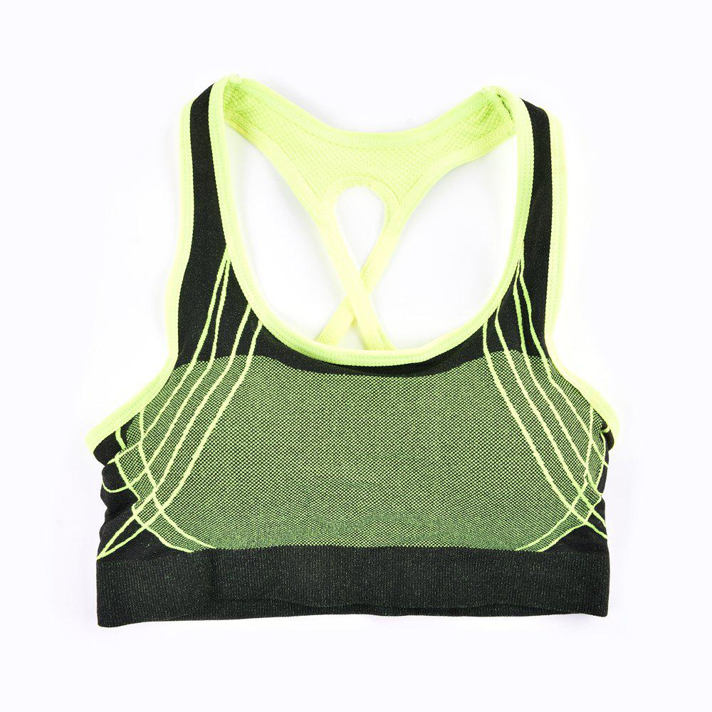 2017 Fashion Outdoor Running Sports Bra for Every Sexy Girls - GREEN / L