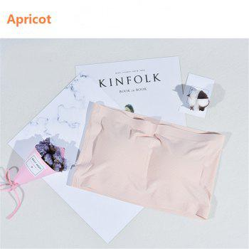 2017 New Ladies Sexy Strapless Tube Tops Ice Silk Seamless Jacqurd Mesh Bandeau - APRICOT ONE SIZE