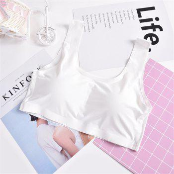 Ladies Sexy Casual Sleeveless Crop Top Underwear Comfortable Fabric Seamless Wrapped Chest - WHITE W  WHITE W