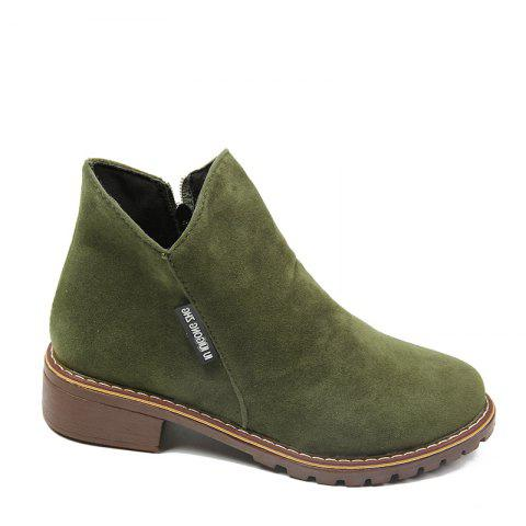 Winter New British Style Martin Short Boots Fashion Women's Shoes - FERN 35