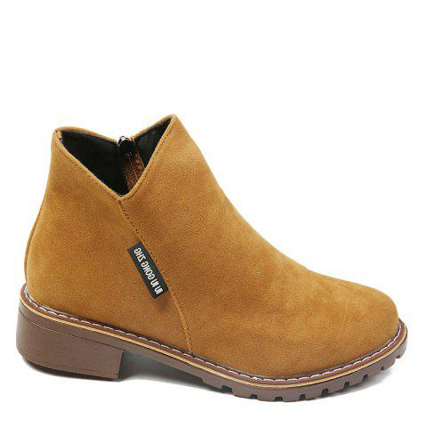 Winter New British Style Martin Short Boots Fashion Women's Shoes - BROWN 35